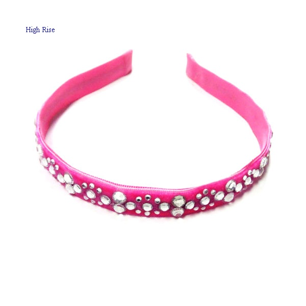 Crystal Pink Ribbon Alice Band, Crystal Headband