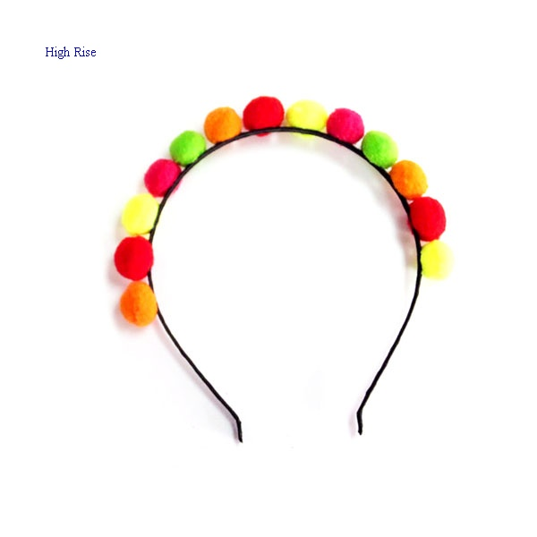 Colorful Pompom Alice Band Kids Headband