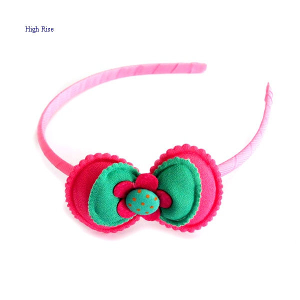 Cute Flower And Bow Alice Band, Kids Headband