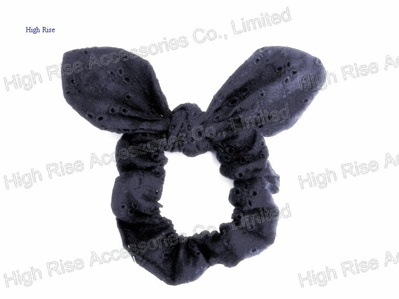 Black Lace Ears Scrunches, Ponytail holder
