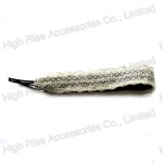 White Mesh Lace Elastic Headband