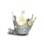 Silver Glitter Crown Taria Hair Clip Duck Clip For Kids