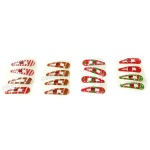 Christmas Tree , Stripes Pattern Snap Clip, Christmas Hair Clip