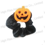 Halloween Pumpkin Scrunchie , Party Hair Ponytail Holder