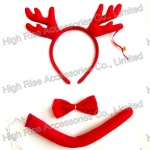 Christmas Reindeer Antlers Headband Bowtie and Tail Kit, Christmas Kit, Party Kit