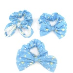 Sparkle Stars Pattern Bow And Ear Scrunchies