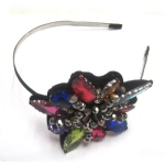 Colorful Stones Flower Ornament Alice Band