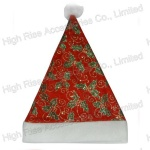 Christmas Leaves Pattern Santa Claus Hat, Party Hat, Promotional Gift