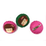 Cute Girls Badge Hair Clip For Kids