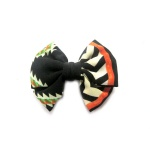 Ethnic Pattern Stripes Bow Hair Clip Alligator Clip
