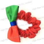 Two Color Tone Fabric Bow Scrunchies
