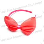 Chiffon with Mesh inside Alice Band,Big Bow Headband