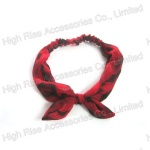 Animal Patter Red Ear Bow Headband