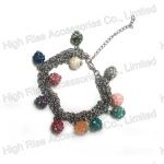 Chain With Shambhala Beads Bracelet