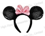 Minnie Mouse Ears Headband Deluxe