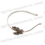 Beads Metal Butterfly Alice Band