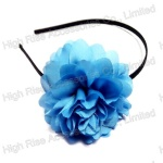 Light Blue Chiffon Flower Alice Band