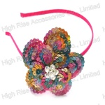 Colorful Sequin Flower Alice Band