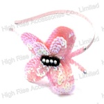 Pink Sequin Butterfly Alice Band