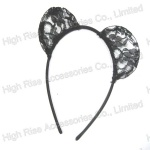 Floral Semi-circle Lace Ear Alice Band