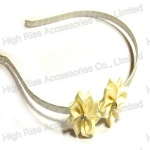 Two Small Satin Flowers Alice Band