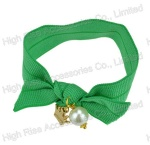 Green Elastic Band With Charms