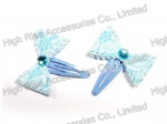 Lace Bow Snap Clip Hair Clip