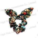 Floral Wired Bow Scrunchie