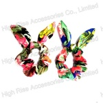 Floral Wired Bow Chiffon Scrunchie
