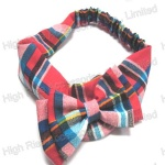 British Grid Bow Elastic Headband