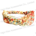 Floral Pieces Patterns Headwrap